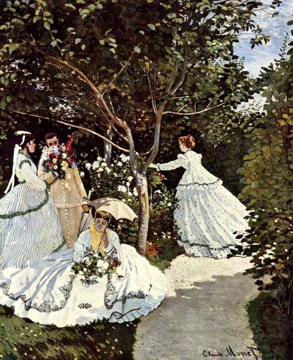 Клод Моне. Женщины в саду. 1866 г.