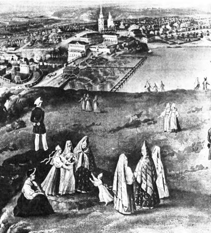 Панорама Нижнего Тагила. В. Худяков. 1830.