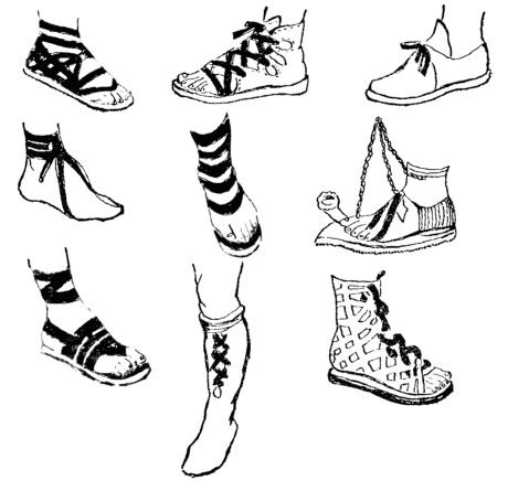 Римская обувь.