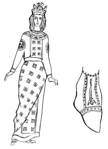 Византийский женский костюм.