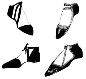 Византийская обувь, 8 в.