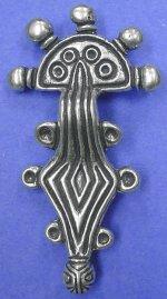 Серебряная застежка для пояса, 9 в.