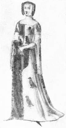 Рис. 14. Французский женский костюм готического периода.