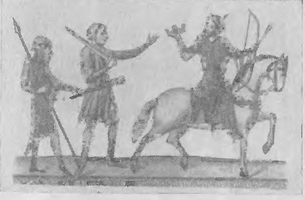 Мужские военные костюмы периода  готики из  Велиславовой библии.