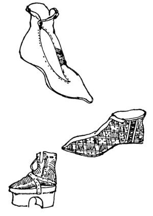 Обувь  позднеготического периода.