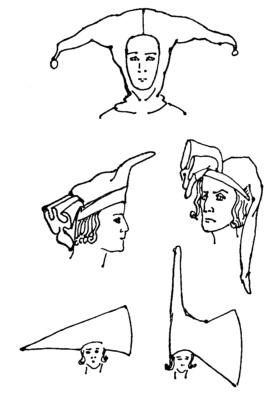 Готические головные уборы.