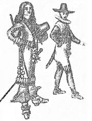 Костюм солдата эпохи «барокко», 17 в.