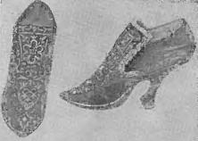 Женские туфли эпохи рококо.