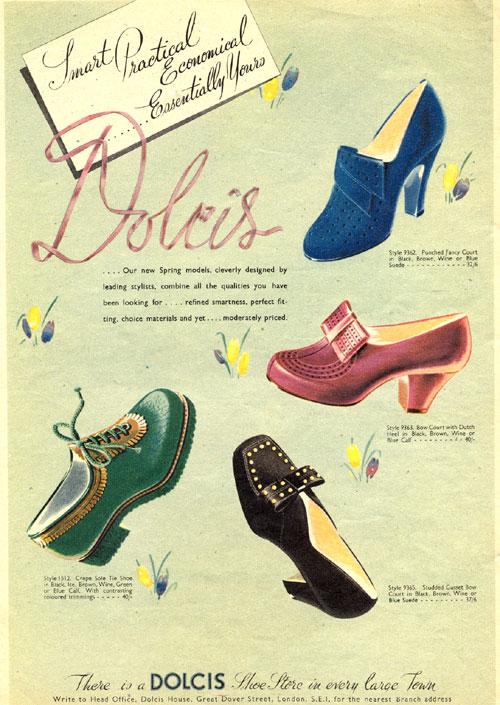 Обувь 40-х годов 20 в.