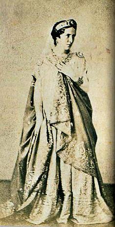 """Анри де Ла Бланшер. """"Рашель в роли  Федры"""", 1859 г., снимок до ретуширования."""