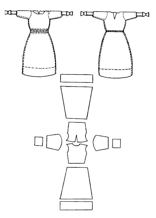 Схема швов и раскрой женского
